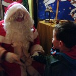 The Poet with Santa
