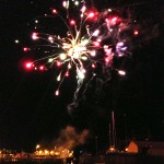 Fireworks at the Roxy, overlooking Girvan Harbour